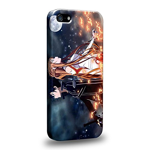Case88 Premium Designs Sword Art Online SAO Kirito & Asuna Custodia/Cover Rigide/Prottetiva per Apple iPhone 5 5s