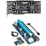 EVGA - NVIDIA GeForce GTX 1060 6144MB GDDR5 PCI Express 3.0 Graphics Card and PCI-E Riser for ETH Etheruem ZEC Zcash XMR Monero Cryptocurrency Mining