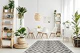 One Couture Muster GRAU TEPPICHE Outdoor AZTEKEN Design Teppich Elfenbein, Größe:200cm x 290cm