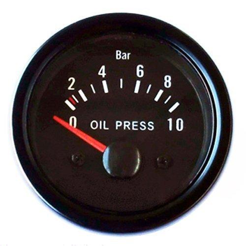 Preisvergleich Produktbild Öldruckanzeige 52mm Retro Oldschool Zusatzinstrument Zusatzanzeige Instrument Öldruck Universal