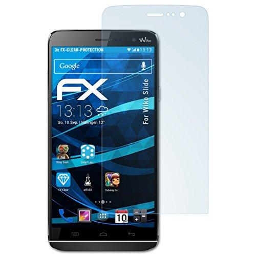 atFolix Schutzfolie kompatibel mit Wiko Slide Folie, ultraklare FX Bildschirmschutzfolie (3X)