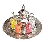 Marrakesch Elegance und Fatima - Juego de té marroquí (6 piezas)