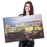 BVB Borussia Dortmund - Kunstdruck 80x50cm Signal Iduna Park - Wandbild