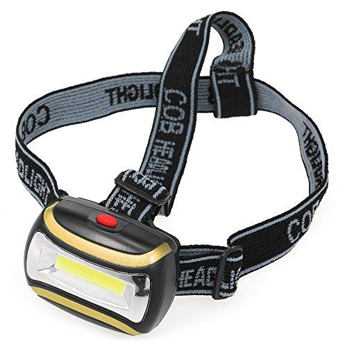 Festnight Outdoor Tragbar LED Stirnlampe Scheinwerfer Kopflampe Taschenlampe 180 Grad Schwenkkopf für Camping Jagd Radfahren Laufen