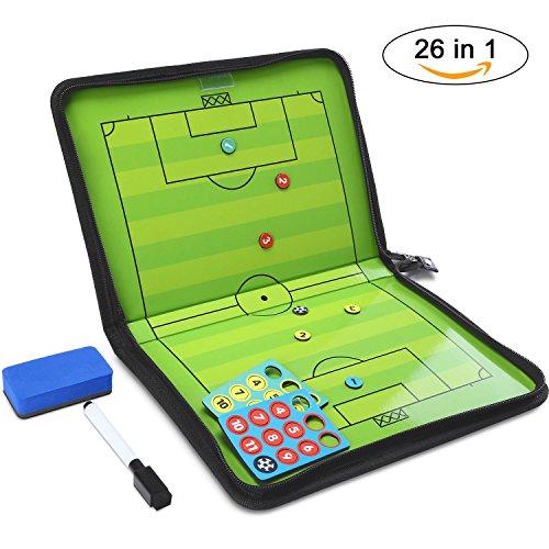 GHB Coaches Taktiktafel Taktiktafel fussball Coach-board mit Stifte, Radiergummi, Magneten