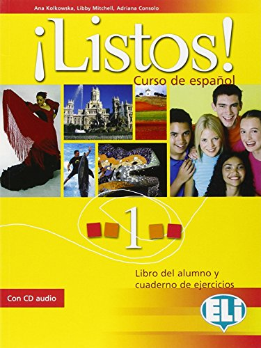 ¡listos! libro dello studente-eserciziario. con cd audio. per la scuola media: 1