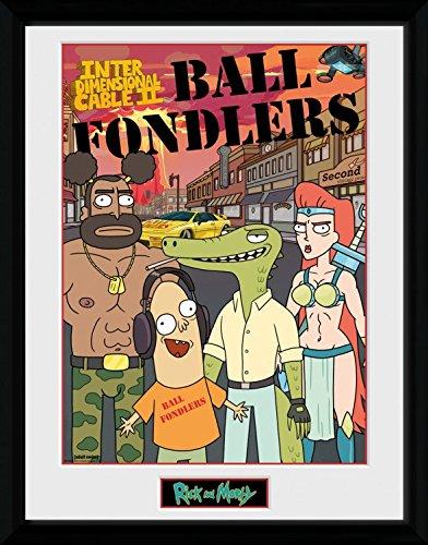 Rick Y Morty - Ball Fondlers Póster De Colección Enmarcado (40 x 30cm)