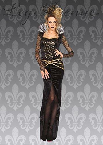 Damen Deluxe Gothic Böse Königin Kostüm L (UK 12-14) (Deluxe Bösen Königin Kostüm)