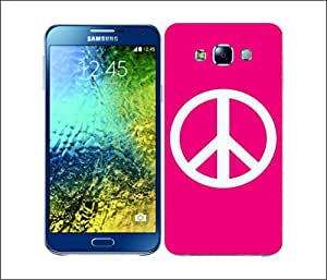 Galaxy Printed 2586 Peace Emblems Pink Hard Cover for Samsung J7