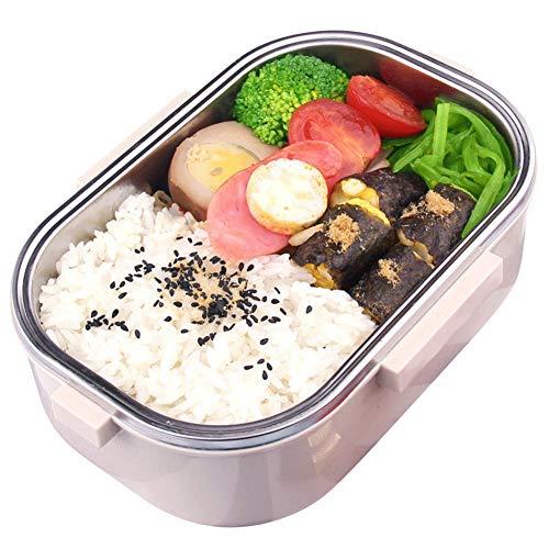 TLfyajJ Tragbare 980ML Edelstahldichtung Thermo-Lebensmittelbehälter Bento-Brotdose, plastikfrei, BPA frei, auslaufsicher   Geeignet für Mikrowelle, Gefrierschrank und Spülmaschine   (Planetbox-lunch-box)
