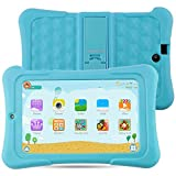 Alldaymall Kinder Tablet PC - 7 zoll IPS( 16GB ROM+1GB RAM, HD 1920x1200, Wi-Fi, Android 5.1, Quad Core, Bluetooth, OTG ) - (with Silikon Adjustable Stand Case) [2017 New Model] - Blau
