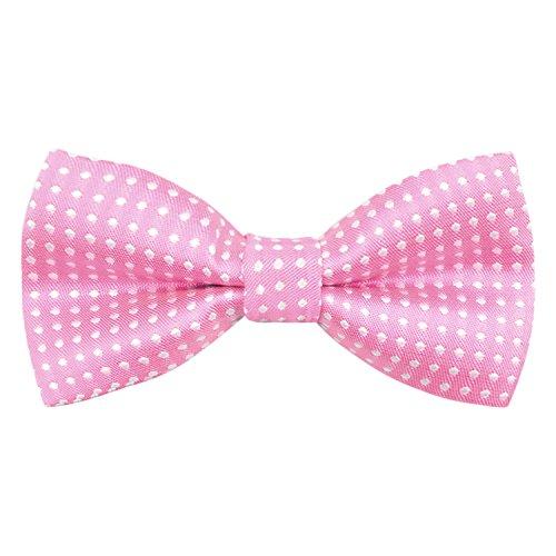 Enjoymore, corbatín ajustable para esmoquin para niños, varios colores rosa rosa