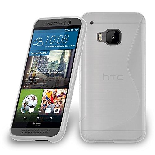 Cadorabo DE-105196 HTC ONE M9 Plus/ONE ME Handyhülle aus flexiblem TPU Silikon im S-Line Design Transparent
