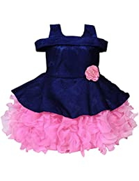 Wish Karo Baby Girls Frock Dress - Scuba - (bxa176)