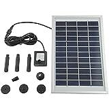 5 W 380L/H Solarpumpe Solar Teichpumpe Solarteichpumpe Gartenpumpe ür Gartenteich oder Springbrunnen