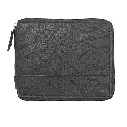 Laurels Handmade Zipper Black Men's Wallet - Lw-Zip-02  available at amazon for Rs.199