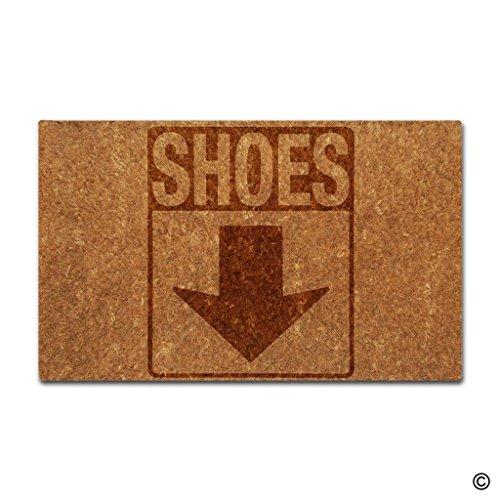 msmr Fußmatte Bitte entfernen Sie Ihre Schuhe Dekorative Fußmatte Innen und Außenbereich Fußmatte Nicht Woven Top 45,7x 76,2cm (Bitte Entfernen Sie Schuhe Tür Matte)