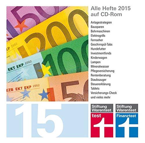 test und Finanztest Archiv CD-Rom 2015, CD-ROMAlle Hefte 2015 auf CD-ROM. für PC, Mac und Linux