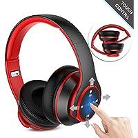 Navtour Bluetooth Kopfhörer Over Ear Headset Wireless Bluetooth 4.1, On-Ear Touch Steuerung, Rauschunterdrückung , Eingebautes Mikro CVC 6.0, 3,5 mm AUX, Zusammenklappbarer Kopfhörer für ios Android