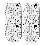Señoras De La Impresión 3D Calcetines De Panda Lindo Calcetines Cortos para Mujeres Animal Oso Panda Calcetines De Primavera Y Verano De Kawaii Divertido Tobillo Calcetines Unisex,2
