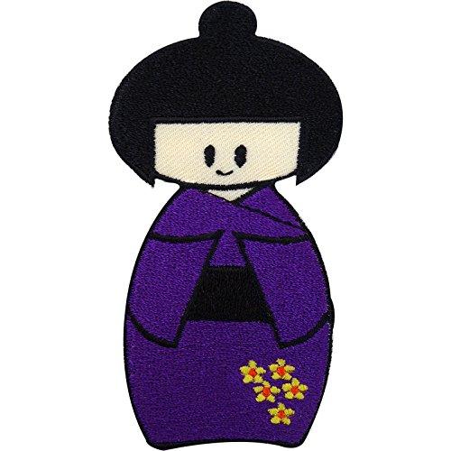Japón Hina doll hierro/para coser parche insignia