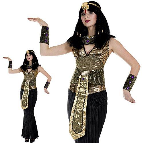 Monster Nil Königin Kleopatra Kostüm Größe L Damen 50128 Karneval (Nil Königin Für Erwachsene Damen Kostüm)