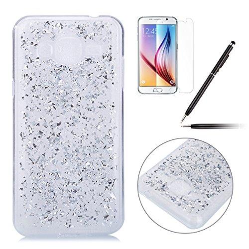 Felfy-Samsung-Galaxy-J3-2016-CoqueSamsung-J3-Bling-Case-Ultra-Slim-Silicone-Etui-Souple-Coque-Etui-Clair-Silicone-Case-Transparent-TPU-Briller-Cristal-Glitter-Transparent-Ultra-Thin-Rubber-Cover-Clair
