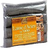 Tampones de lana Acero 000 para madera y metal de 60 gramos - Marca Lakeone