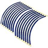 22.9cm Largo Motos Rueda Cinta Etiquetas Engomadas Decorativas Azul 16 Pcs