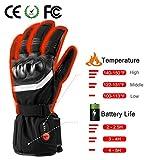 SAVIOR beheizte Handschuhe mit wiederaufladbare Lithium-Ionen-Batterie Beheizt für Männer und Frauen, arbeitet bis zu 2,5-6 Stunden (XL) - 4