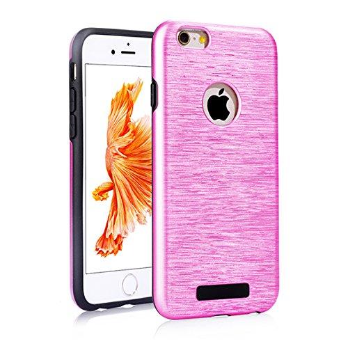 "iPhone 6s Schutzhülle, [Tough Armor] CLTPY iPhone 6 Handycase Ultra Hybrid PC & Silikon Abdeckung mit Flip [Kickstand] & Kartenschlitz, Schwarz Rüstung Harter Fall für 4.7"" Apple iPhone 6/6s + 1 x Sti Rose Rosa A"