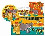 Procos 10110294B Kinderpartyset Disney Der König der Löwen, Größe S, 37 teilig, bunt