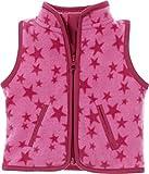 Schnizler Fleece-Weste Sterne, Oeko-Tex Standard 100, Chaleco Bebé-Niños, Rosa (Pink 18), 62