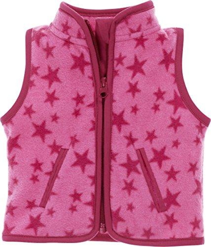 Schnizler Unisex Baby Weste Fleece Sterne, Oeko-Tex Standard 100, Rosa (Pink 18), 62
