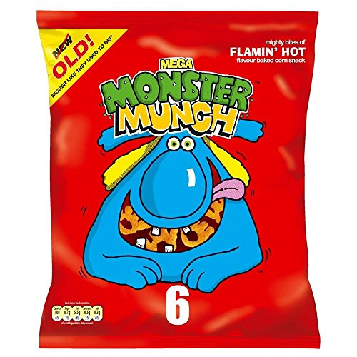 Walkers Monster Munch - Flamin Hot (6x22g) - Packung mit 2
