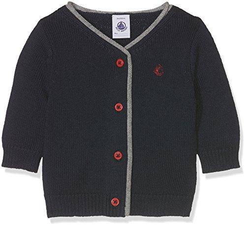 Petit Bateau Baby-Jungen Strickjacke Cardigan, Blau (Smoking 84), 92 (Herstellergröße: 24m/86cm) (Baby-jungen Cardigan Outfit)