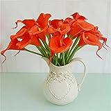 display08 10PCS Künstliche Latex Calla Lily Flower Bouquet Home Hochzeit
