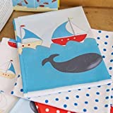 6- Teiliges Fat Quarters Sailing Boats & Wale & Design
