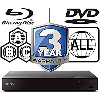 SONY BDP-S6500 2K/4K Lecteur Multi Zone Region Code Free Blu Ray 2k/4k - 2D/3D - WI-FI - DVD - SACD - CD - Blu Ray Player - PAL/NTSC - Worldwide Voltage 100~240V - Comes with UK Power Supply for use in United Kingdom