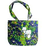 Cotton Canvas-Künstlertasche Vincent van Gogh - Motiv: Blumen/ Schwertlilien /Iris