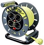 Masterplug OME25164SL-PX Enrollacable, 3000 W, 250 V, Gris/Verde Pistacho