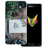dessana Frühling transparente Silikon TPU Schutzhülle 0,7mm dünne Handy Soft Case für Samsung Galaxy A5 (2016) Schmetterling Garten