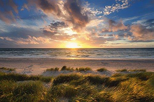 Preisvergleich Produktbild Artland Wandbilder selbstklebend aus Vliesstoff oder Vinyl-Folie Steffen Gierok Sonnenuntergang an der Ostsee Landschaften Gewässer Meer Fotografie Orange C9OT