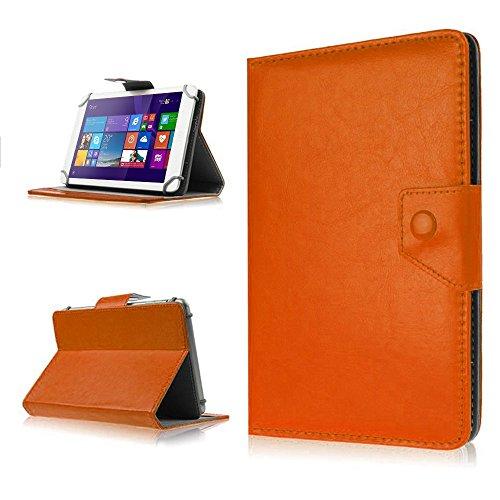 NAUC Tasche Schutz Hülle für TrekStor SurfTab Wintron 7.0 Tablet Schutzhülle Case, Farben:Braun