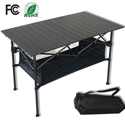RISILAYS Aluminium Klapptisch Campingtisch Multifunktionstisch Camping Wandern Reisen Picknick Sonstige Indoor-Outdoor Aktivitäten (95x 55x50cm)