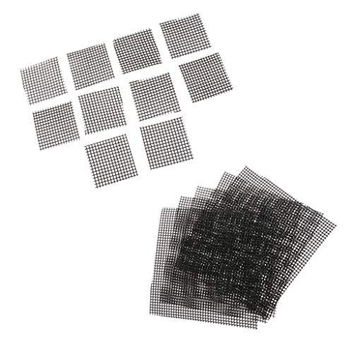 FLAMEER Set Maille de Drainage Feuille Bonsaï Jardinage - 5.2x5.2 cm+15x15 cm 15pcs