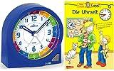 Kinderwecker Ohne Ticken Jungen Blau mit Lernbuch Conni Buch Uhrzeit lernen - 1937-5 BU