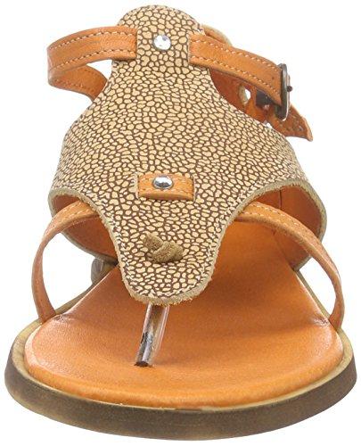 Dkode Aisha, Sandales ouvertes femme Orange - Orange (Cognac/Orange 004)