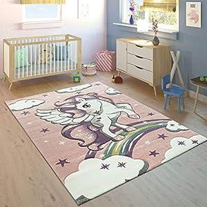 Alfombra Infantil Arco Iris Unicornio
