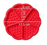 Syga-Heart-Shaped-Silicone-Waffle-Mould-for-Cake-Cookie-Muffin-Baking-Tool-65x06-inch-Red